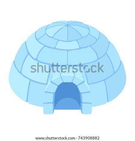 Igloo Ice House Snow Home Eskimo Stock Vector Royalty Free