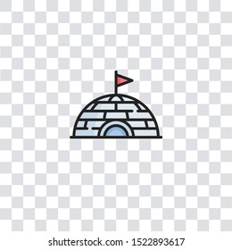 igloo icon sign and symbol. igloo color icon for website design and mobile app development. Simple Element from arctic collection for mobile concept and web apps icon.