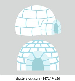 Igloos ice house in flat design vector