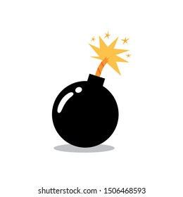 Ignited Bomb Illustration Clipart Vector