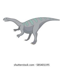 Igunodon icon. Cartoon illustration of igunodon vector icon for web
