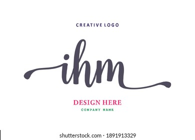 IHM lettering logo is simple, easy to understand and authoritative