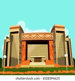 IIM auditorium building vector
