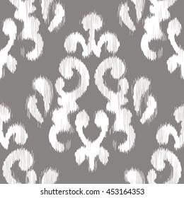 Ikat damask pattern seamless background tile