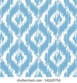 Ikat Damask Seamless Ogee Background Pattern