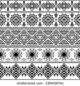 Ikat geometric ethnic tribal pattern. Tribal illustration design vector. Aztec, inca background ethnic seamless pattern