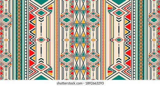 Ikat geometric folklore ornament for ceramics, wallpaper, textile, web, cards. Ethnic pattern. Border ornament. Native american design, Navajo. Mexican motif, Aztec ornament