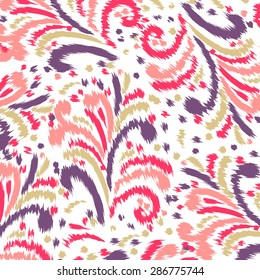 Ikat Ogee Background Pattern