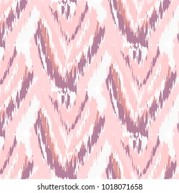 Ikat ogee ethnic pattern in watercolour style ornaments