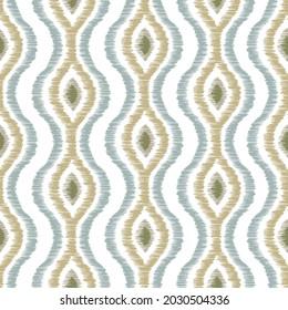 Ikat pattern seamless repeat vintage decor textile design organic hand made batik modern and trendy