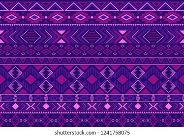 Ikat pattern tribal ethnic motifs geometric seamless vector background. Awesome indonesian tribal motifs clothing fabric textile print traditional design with triangle and rhombus shapes.