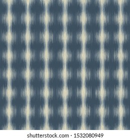 Ikat Polka Dot Marl Variegated Texture Background. Denim Indigo Gray Blue Blended. Faded Acid Wash Seamless Pattern. Bleeding Tie Dye Effect Textile, Melange All Over Print. Vector Eps 10
