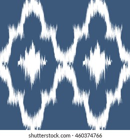 Ikat Seamless Pattern Design for Textile.