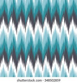 Ikat Seamless Zigzag Chevron Background Pattern