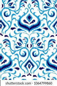 ikat  vector seamless pattern