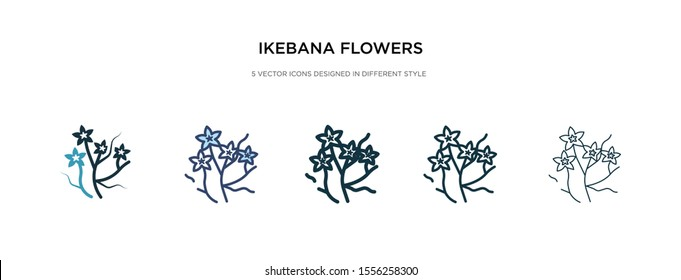 ikebana flowers icon in different style vector illustration. two colored and black ikebana flowers vector icons designed in filled, outline, line and stroke style can be used for web, mobile, ui