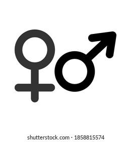 Ikon gender. Ikon Pria dan Wanita. Laki-laki dan perempuan simbol vektor tanda terisolasi pada ilustrasi latar belakang transparan untuk desain grafis dan web.