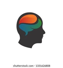 ikon logo kepala manusia