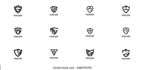 Ikon Logo MG Security Guard, Letter MG, template konsep logo SG Protection, MG logo, MG Letter Logo Design Template Vector EPS