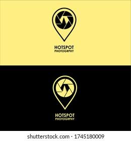 ikon pin Map with Rana ikon For Profesional logo Photographer and for hotspot Photography