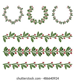 Ilex aquifolium decor, also known Christmas holly or European holly