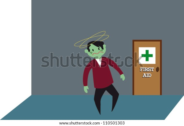 Ill Man & First Aid Room