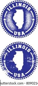 Illinois USA Stamps