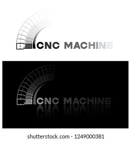"Illiteration consisting of several images of the end mill and the inscription ""cnc machine"""