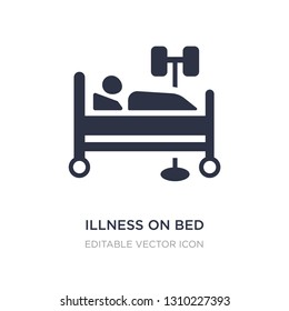 illness on bed icon on white background. Simple element illustration from Medical concept. illness on bed icon symbol design.