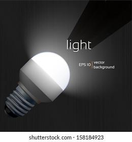 Illuminate LED lamp in the dark, design background texture Vector