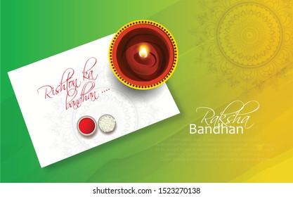 Illuminated Lit Lamps on beautiful floral Rangoli, Elegant Greeting Card, Creative Diwali Festive Background