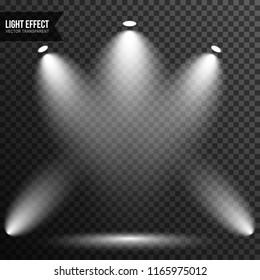 Illuminated scene, spotlight, stage, light effect vector transparent