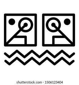 Illuminati alchemic icon. Outline illuminati alchemic vector icon for web design isolated on white background