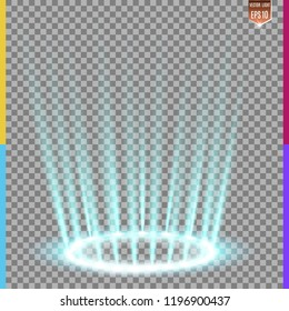 Illumination of the scene from above and below. Special flash effect. Illustration. Bright light. Light from the rays