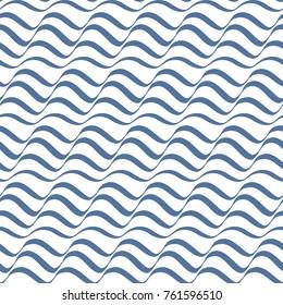 Illusion stripes seamless vector pattern