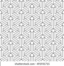 Illusion triangles pattern, line drawing
