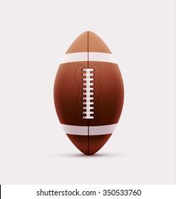 Illustartion of american football ball isolated on white