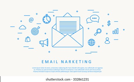 Illustartion of email infographic concept