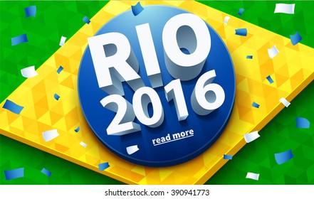 Illustartion of rio 2016 games eps 10