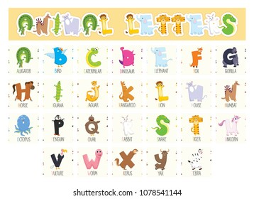 Illustrated Animal Letters