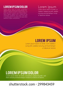 Illustrated business presentation. Magazine cover, business brochure template.