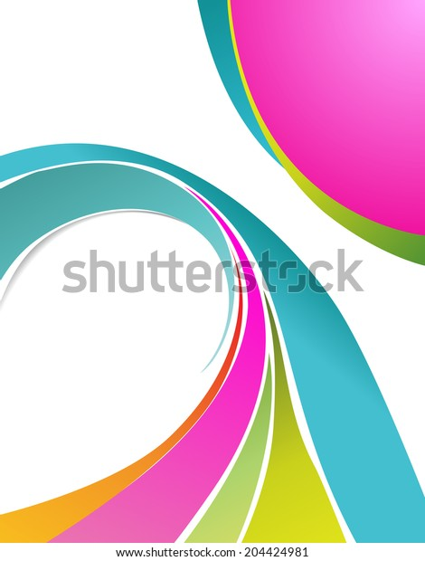 Illustrated colorful layout with abstraction.