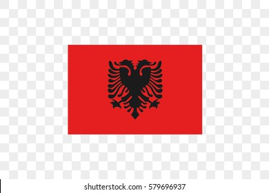 An Illustrated Country Flag of  Albania