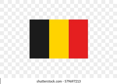An Illustrated Country Flag of  Belgium
