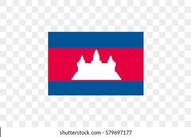 An Illustrated Country Flag of  Cambodia