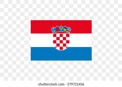 An Illustrated Country Flag of  Croatia