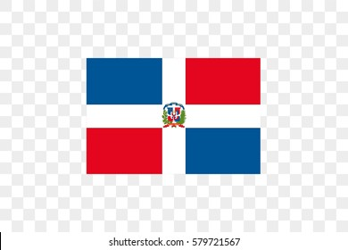 An Illustrated Country Flag of  Dominican Republic