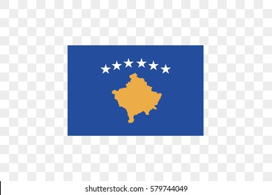An Illustrated Country Flag of  Kosovo