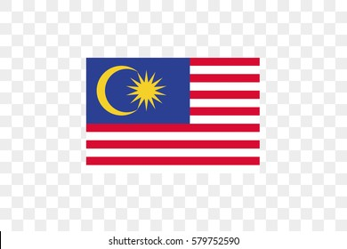 An Illustrated Country Flag of  Malaysia