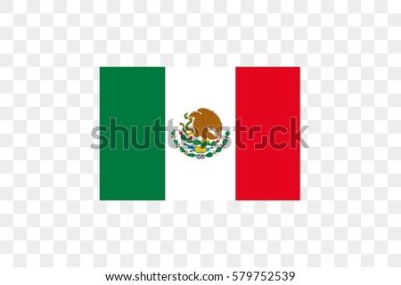 An Illustrated Country Flag of  Mexico